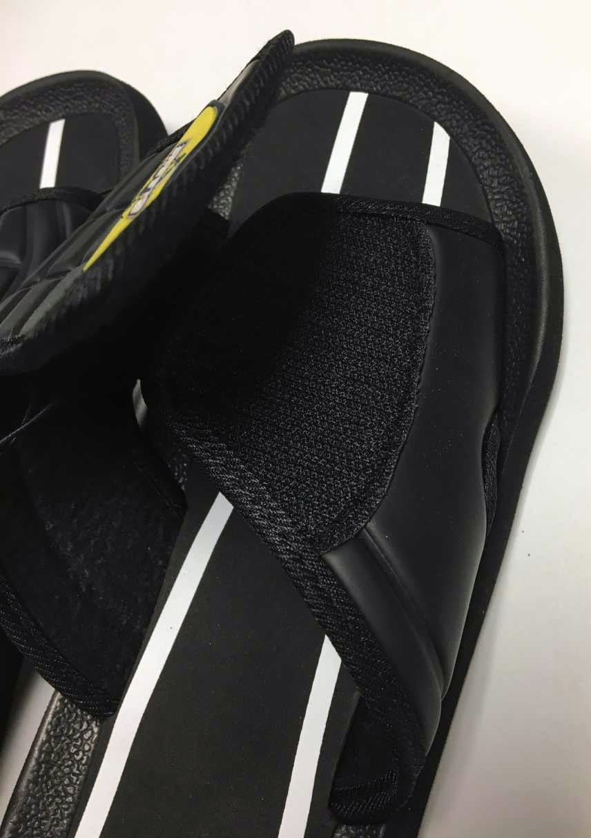 Alternative Image for the Black Soccer Slide Sandals product