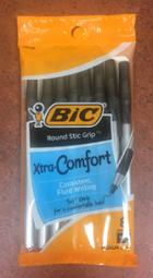 Image for the Bic Xtra-Comfort Stic Grip Ballpoint Pen, Soft Grip, Black Ink, Medium Point, 8/pk product