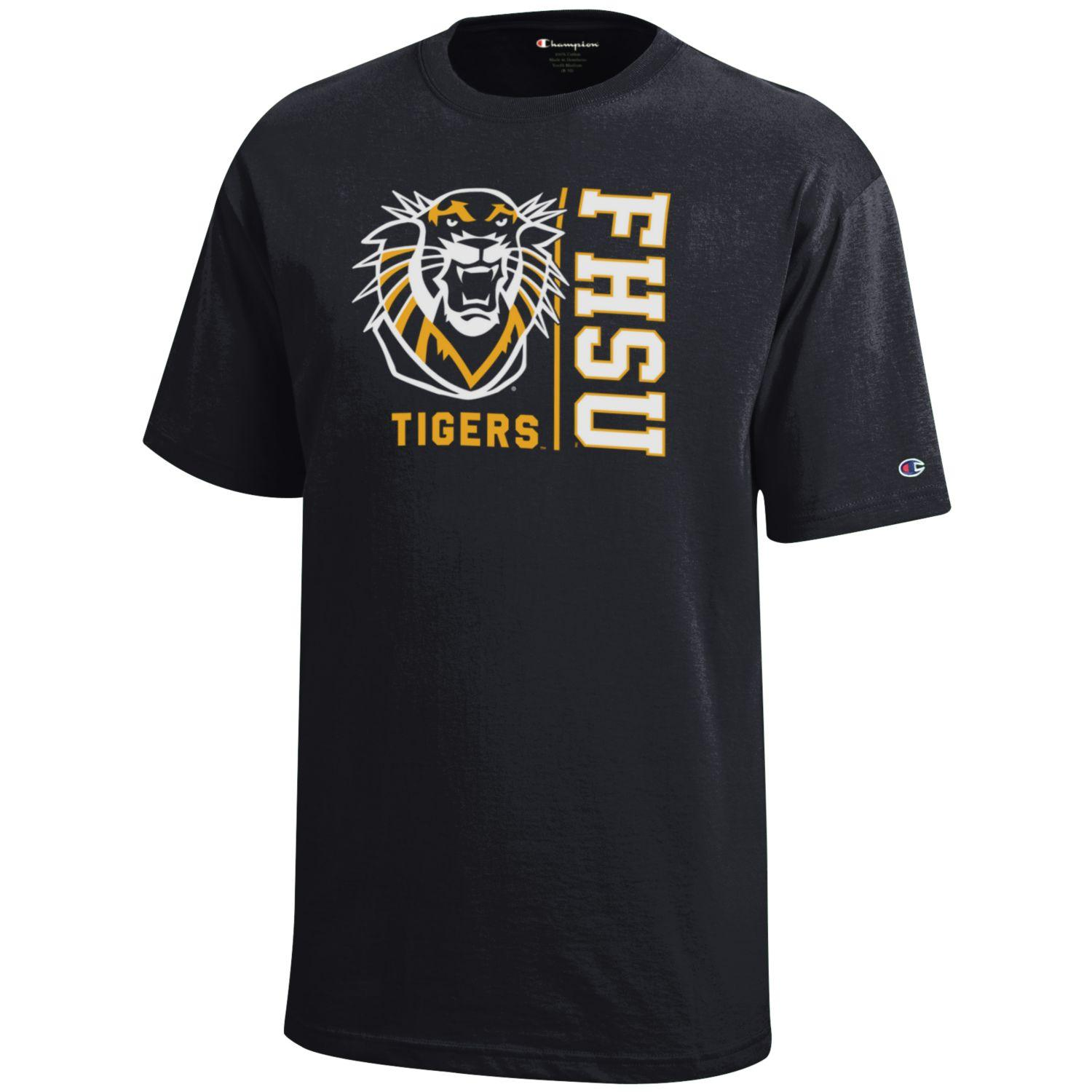 Image for the Youth T-Shirt Black FHSU Mascot Tigers product