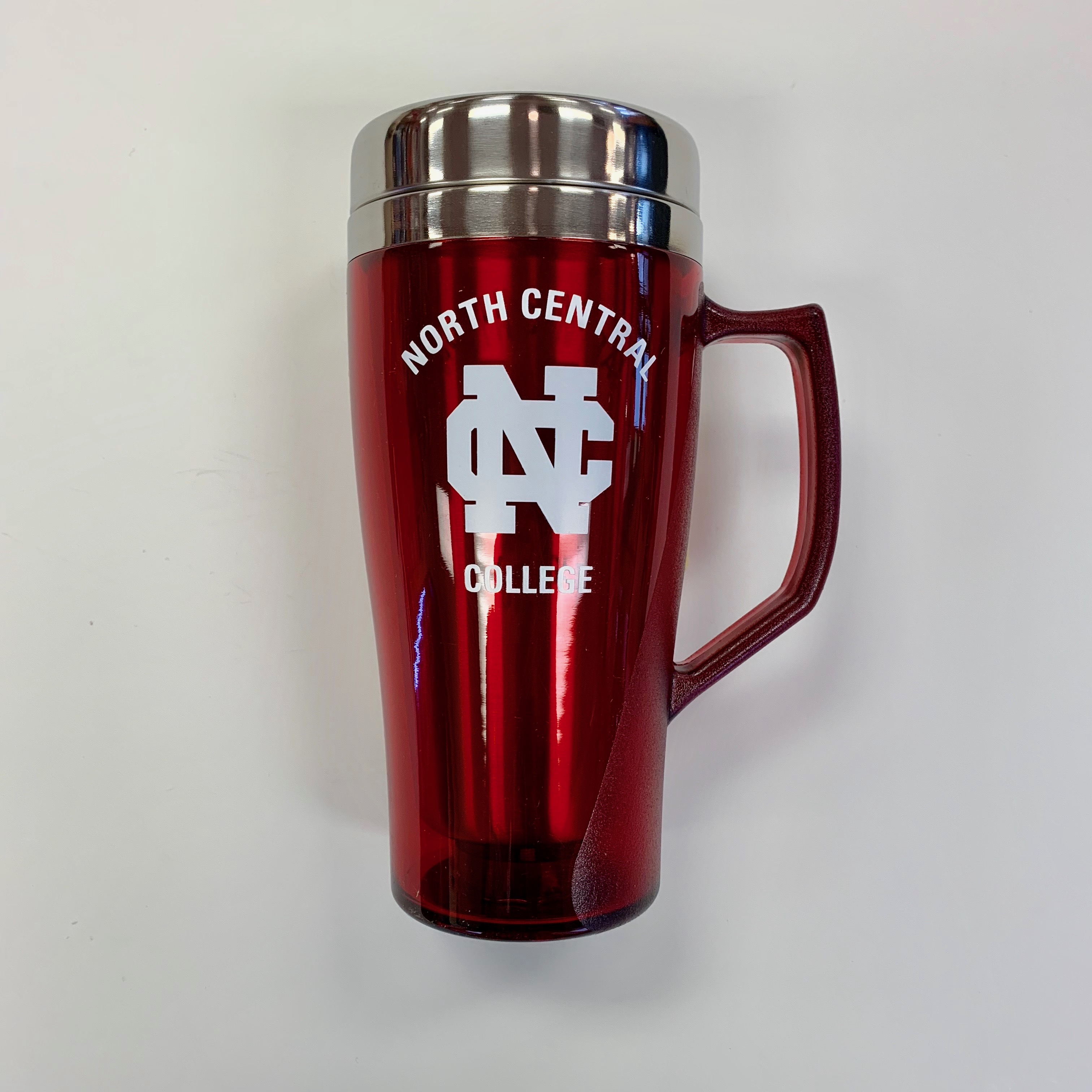 Image for the 16oz Stainless Red Travel Tumbler w/Handle product
