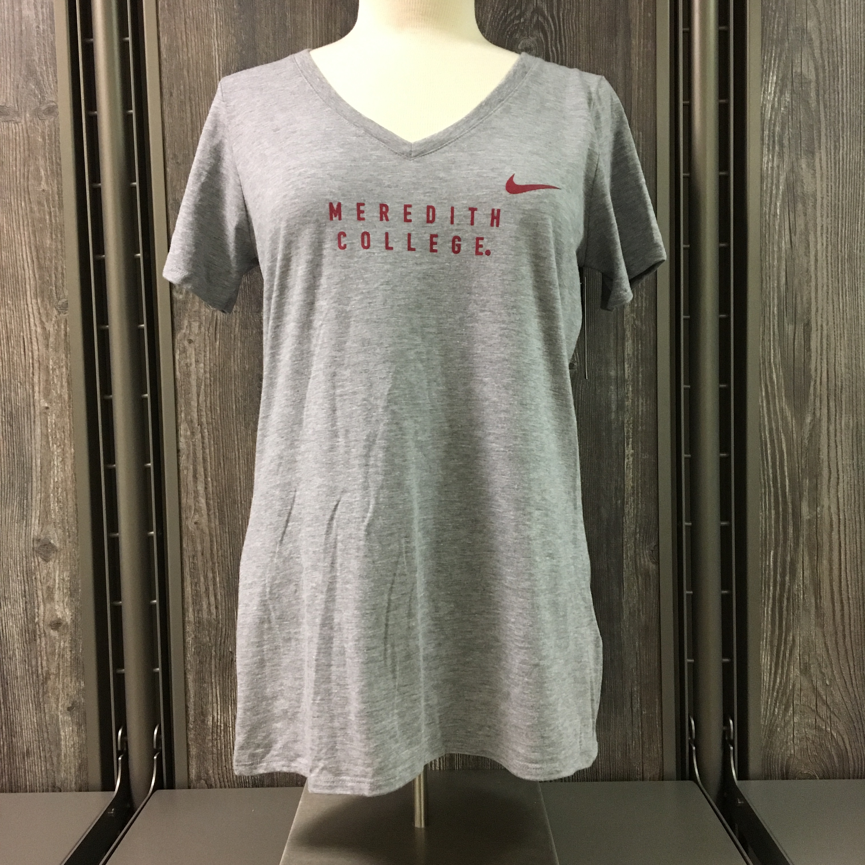 Image for the Tri-Blend V-Neck Tee, Gray with Meredith College product