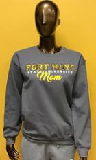 Image for the Crew Sweatshirt Charcoal w/ FHSU Mom/Dad/Alumni Custom Specialties product