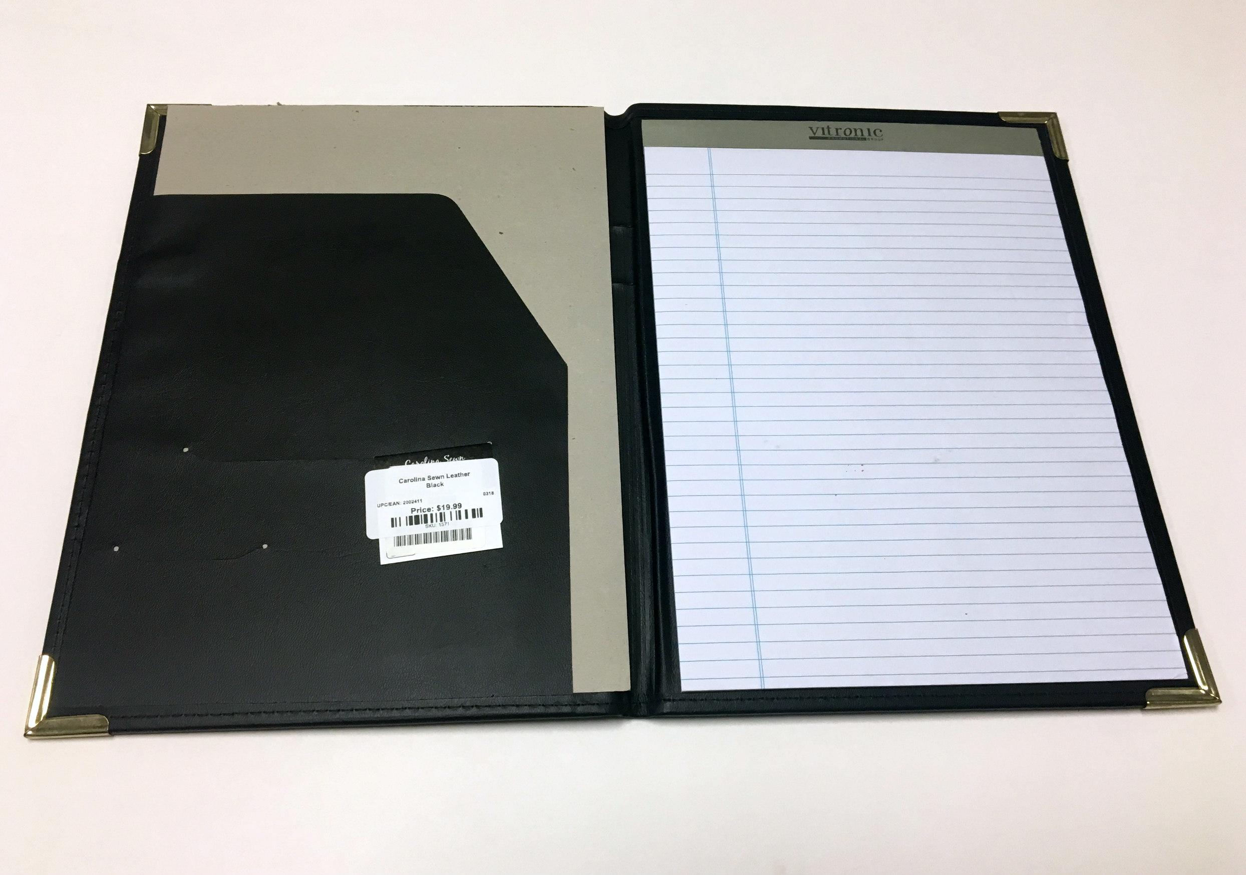 Alternative Image for the Carolina Sewn Leather Padfolio product