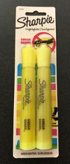 Image for the Sharpie Jumbo Tank Style Highlighter 2pk Yellow product
