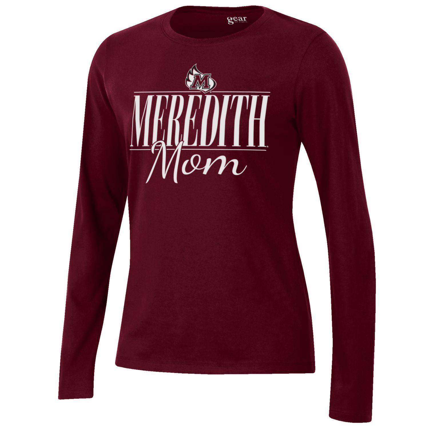 Image for the Mom Long Sleeve Tee, Maroon product
