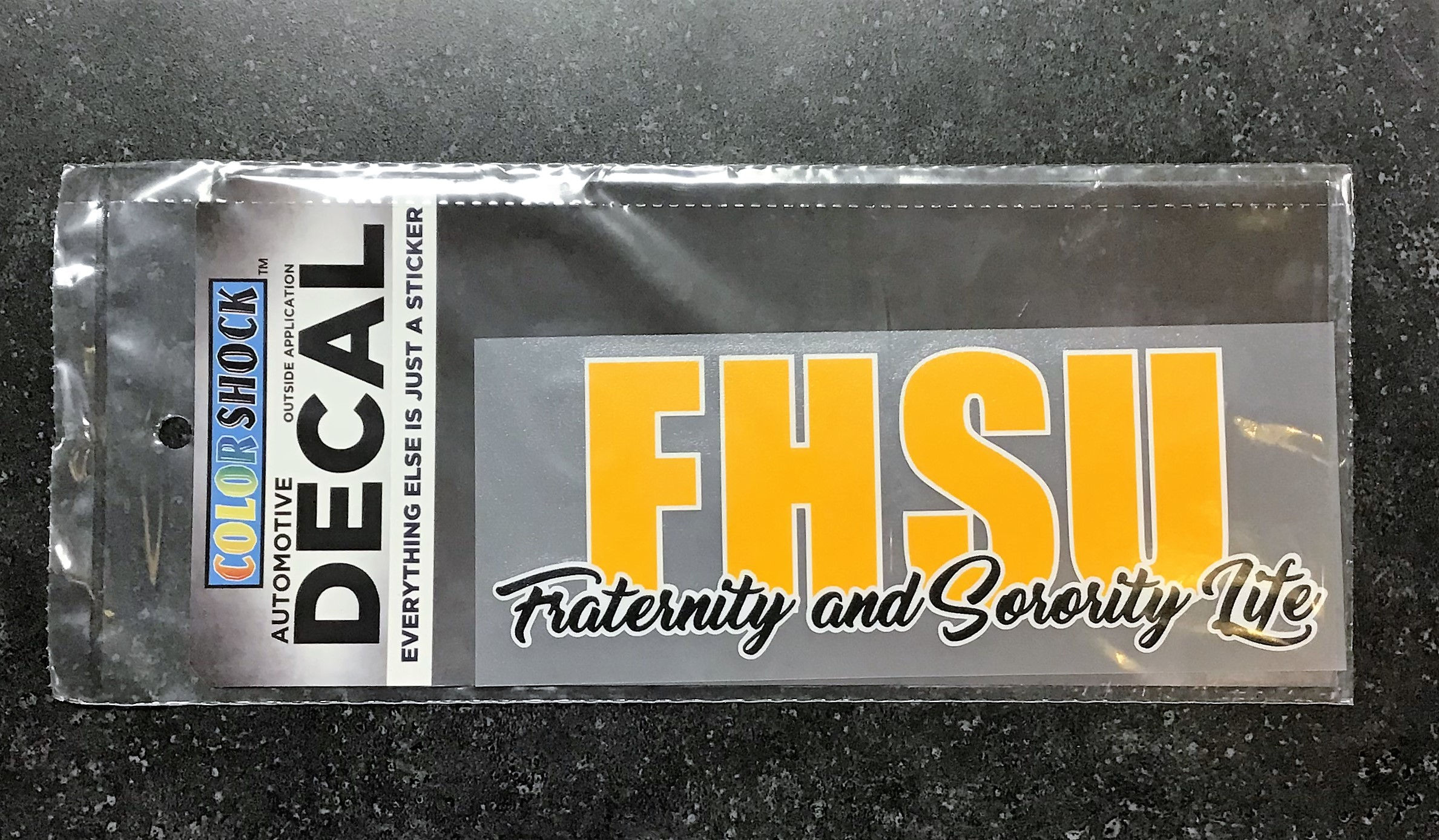Image for the FHSU Fraternity and Sorority Life Decal, Color Shock product