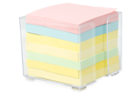 Image for the Sticky Notes Memo Cube with Holder, Asst. Pastel Colors, 7/pk product