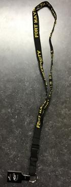 "Image for the Lanyard 3/4"" Platinum Woven Black w/clip MCM product"
