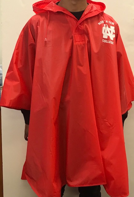 Image for the Slicker Rain Poncho Red w/White Ink product