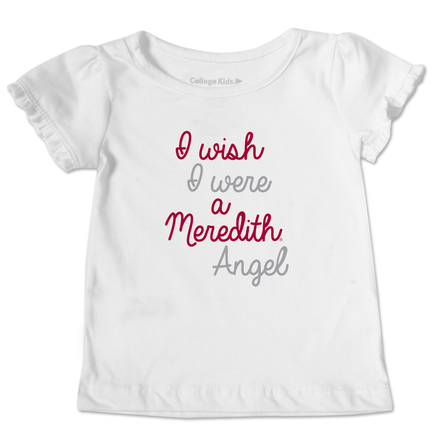 Image for the Toddler Ruffle Tee White I wish I were a Meredith Angel product