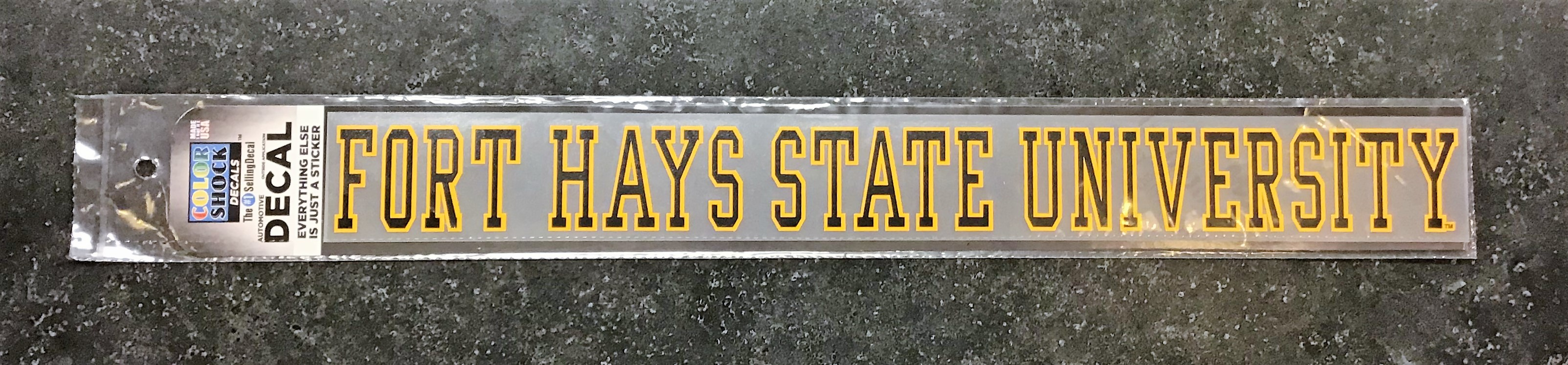Image for the Fort Hays State University Strip Decal, CDI Color Shock product