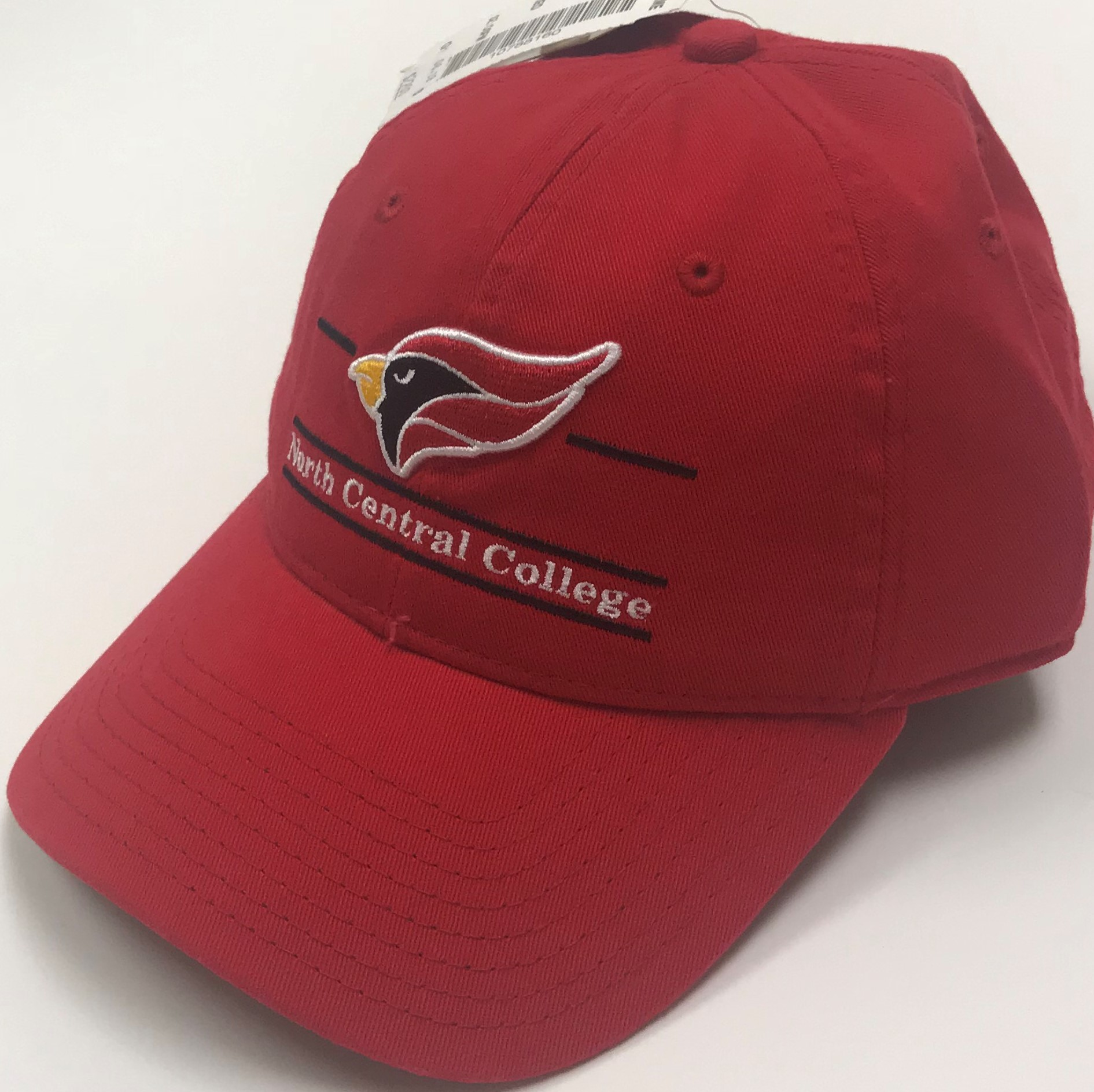 Image for the North Central College Red Adj Hat w/Cardinal by The Game product