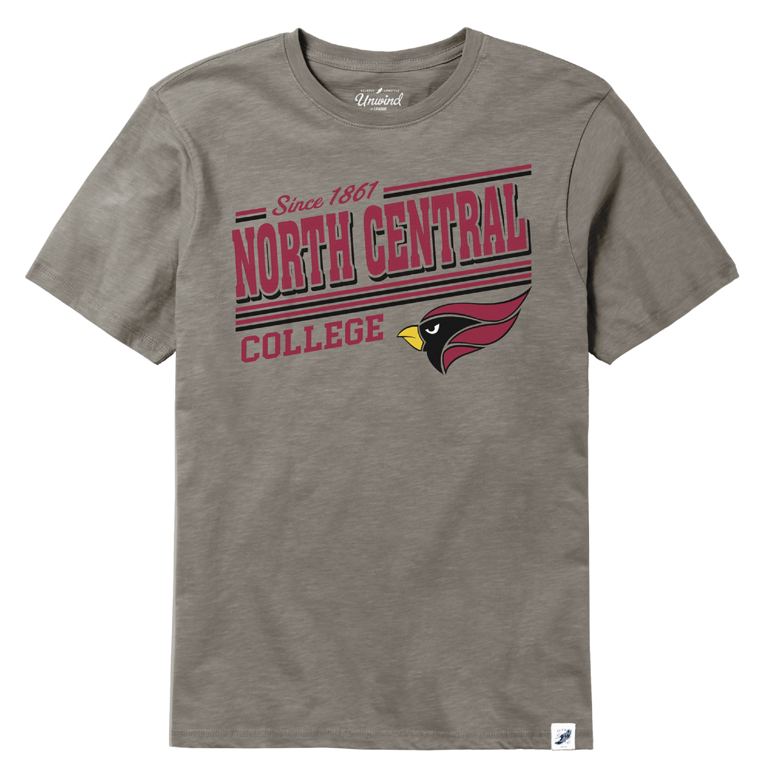 Image for the North Central College Slub Short Sleeve Tee by Legacy product
