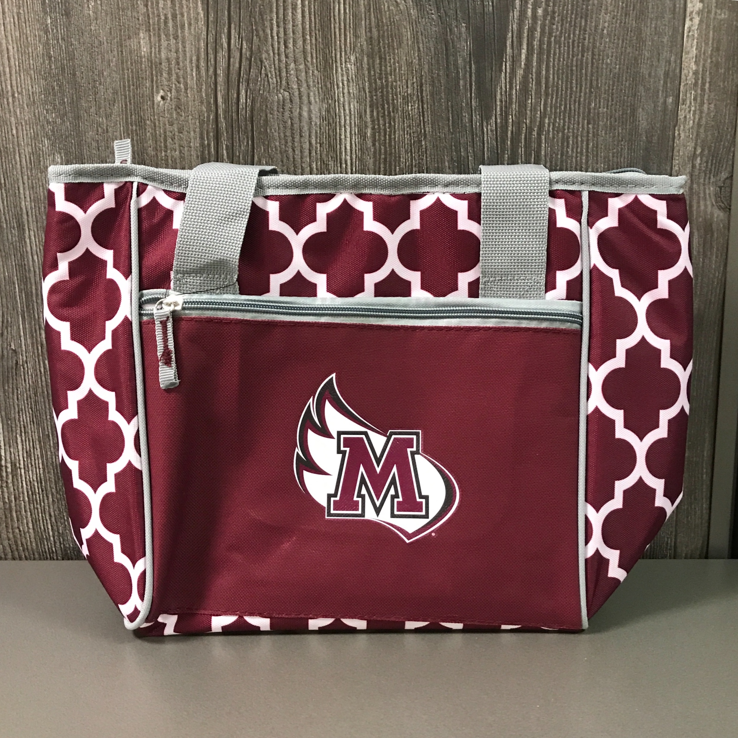 Image for the 16-Can Cooler Tote Maroon Logo Brands product
