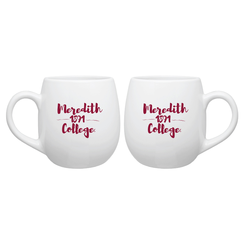 Image for the 16 oz. Koo Mug White Maroon Imprint product
