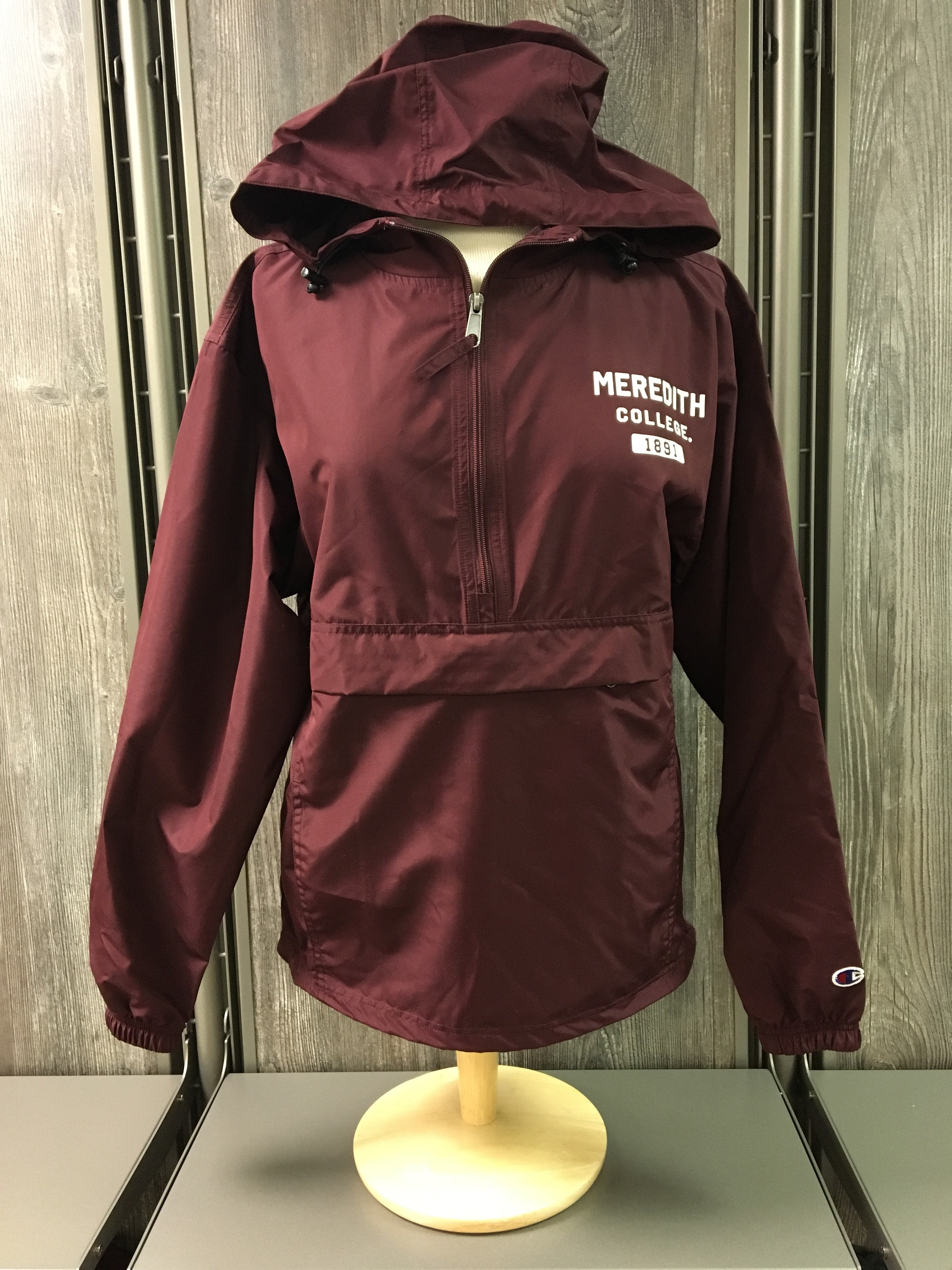 Image for the Packable Jacket 1/2 Zip Maroon product