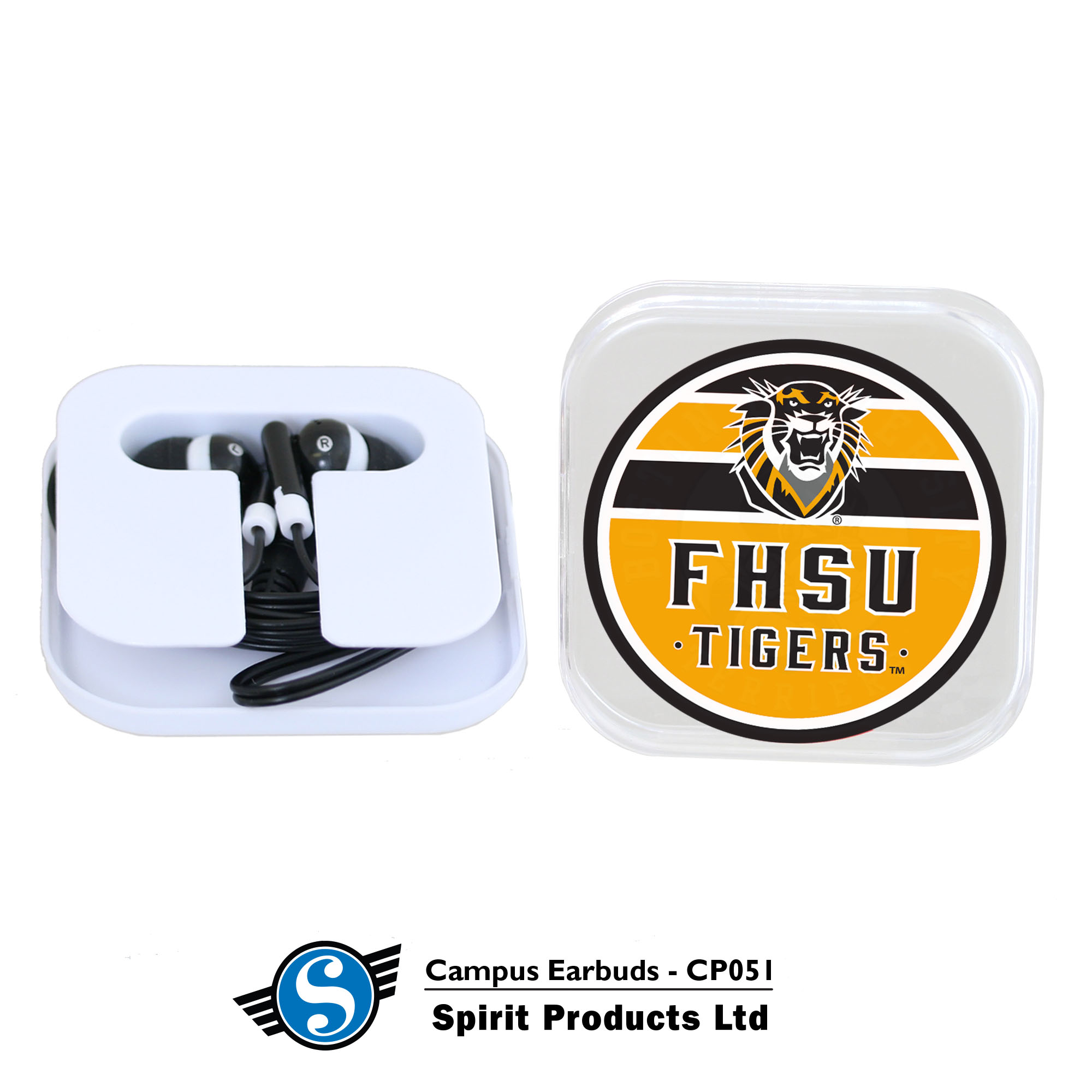 Image for the FHSU Campus Earbuds, Spirit Products product