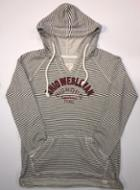 Image for the Striped French Terry V-Neck Hoodie product