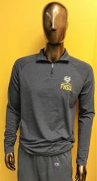 Image for the Under Armour Charged Cotton Quarter Zip, Black Novelty product