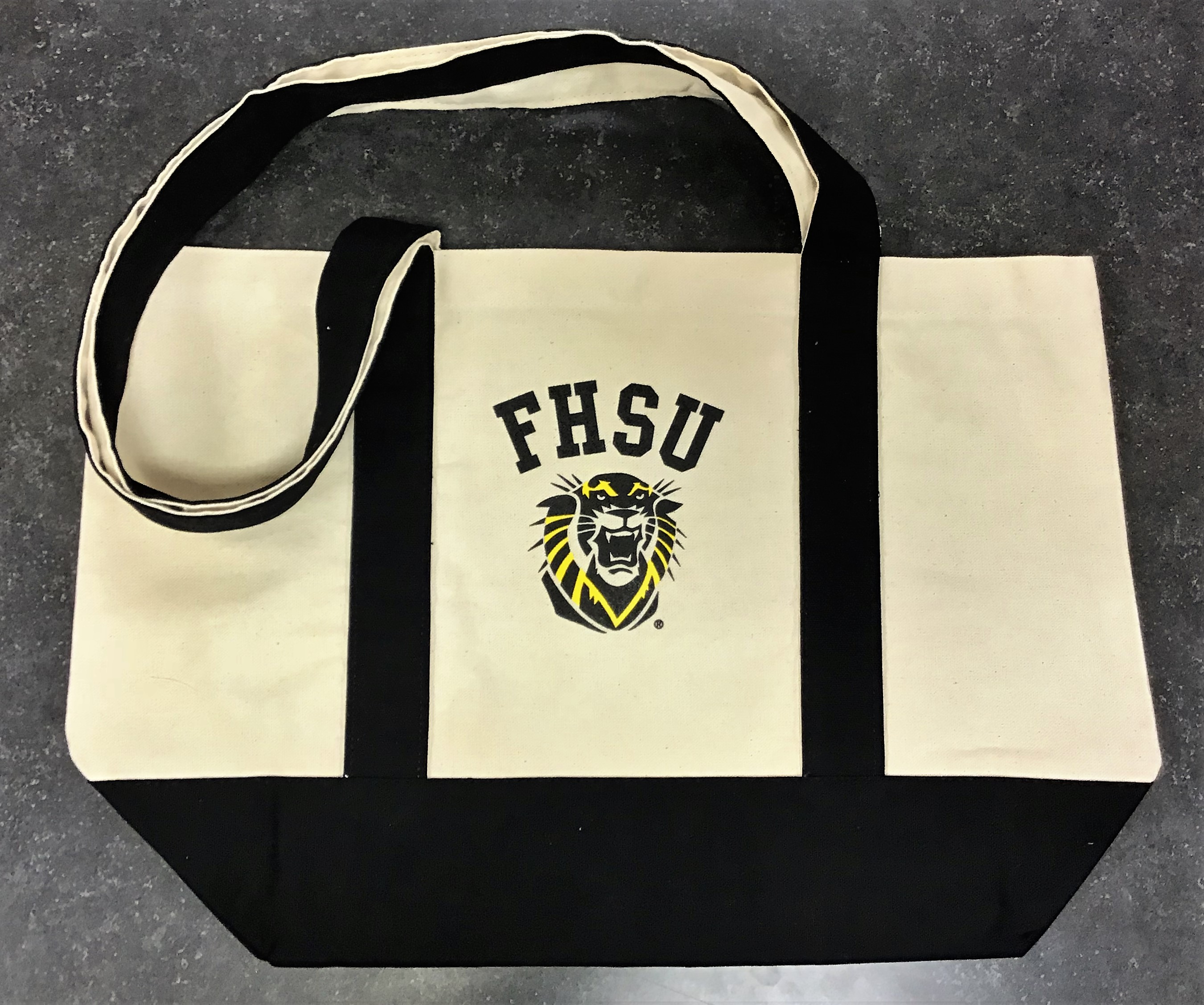 Image for the Tote Bag Gold & Black with Snap Spirit product