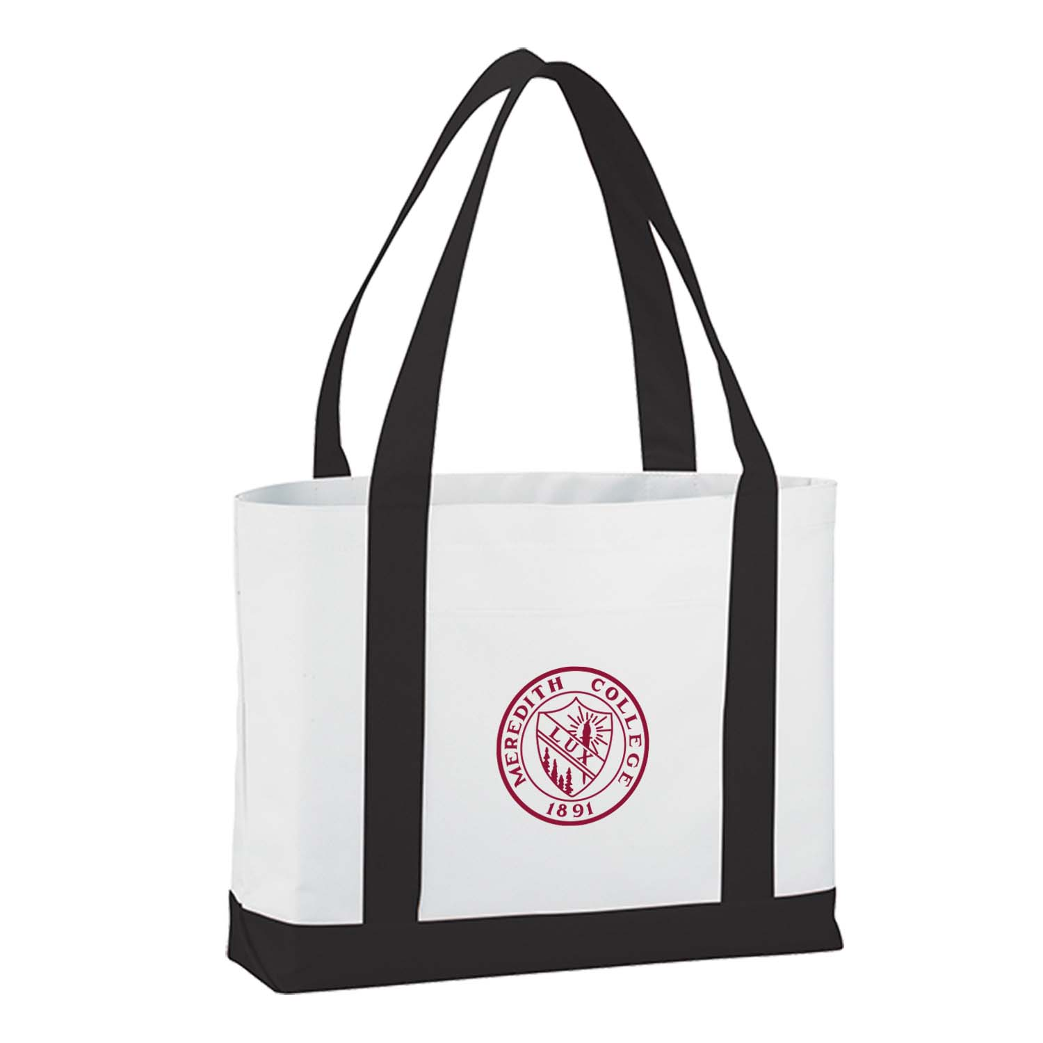 Image for the Lightweight Tote, Black with Maroon Seal product