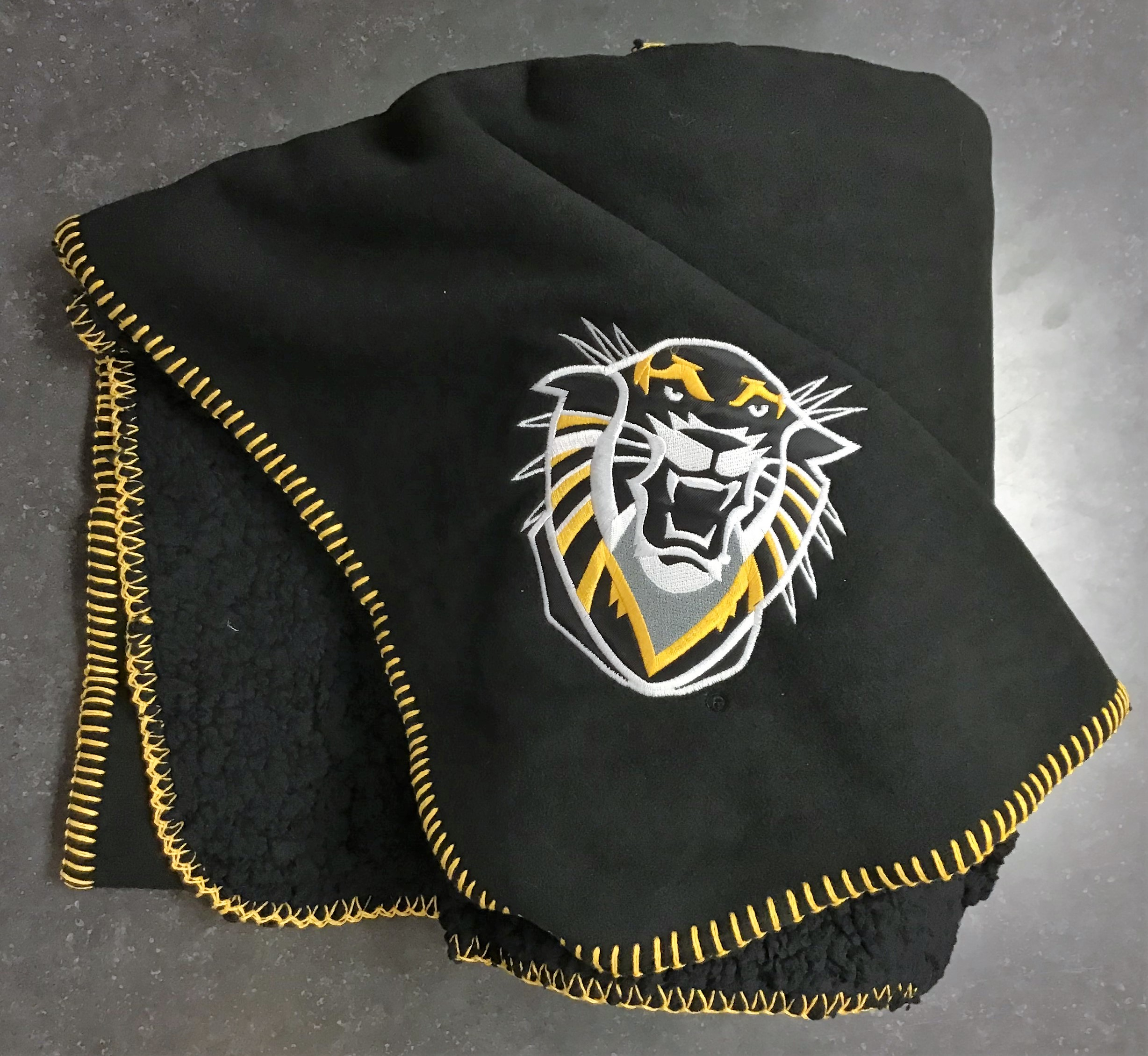 Image for the Black Fleece Blanket with Mascot product