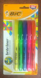 Image for the Bic Brite Liner Highlighter, Chisel Tip, 5/pk product