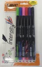 Image for the BIC Intensity Fineliner Marker Pen Asst Fine 6Pk product