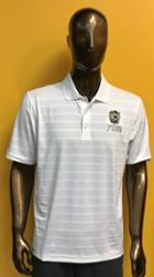 Image for the Men's Textured White Polo with Tiger Head above FHSU, Champion product