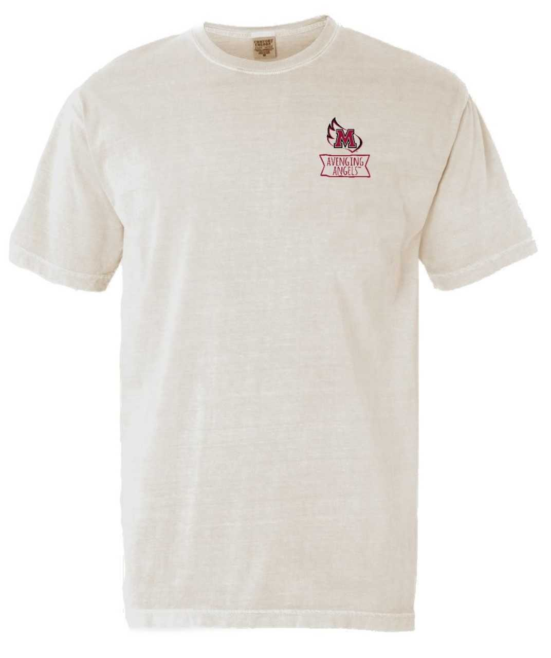 Alternative Image for the Comfort Colors T-Shirt, Ivory, Campus Life Images product
