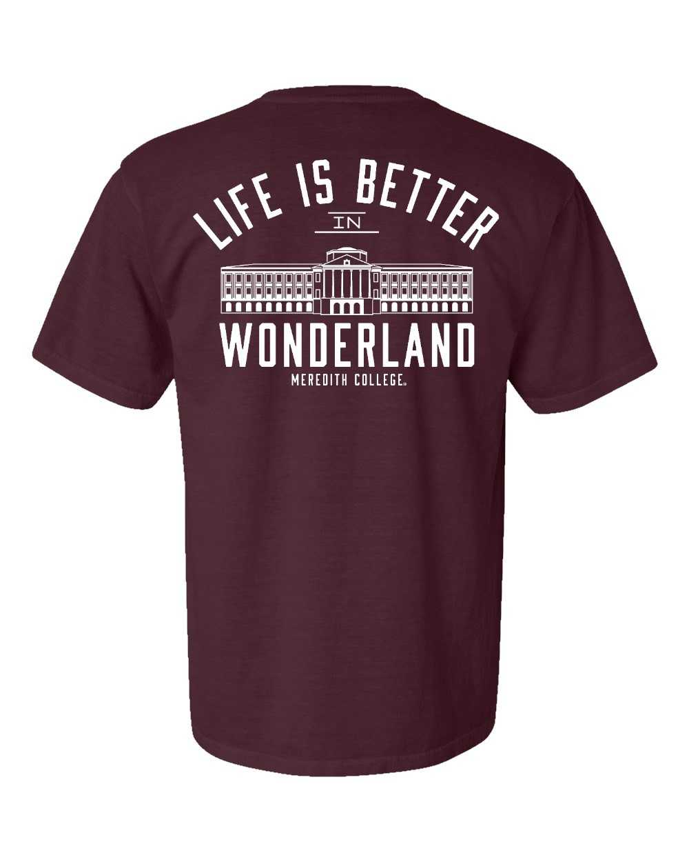 Alternative Image for the Comfort Colors T-Shirt, Vineyard, Life is Better in Wonderland product